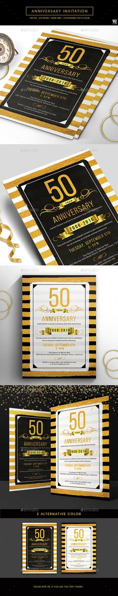 Can be used for multipurpose way like corporate… Anniversary Invitation Template. Can be used for multipurpose way like corporate anniversary, company anniversary, corporate party 50th Anniversary Invitations, Invitation Card Birthday, Anniversary Greeting Cards, Invitation Card Design, Anniversary Parties, Invitation Cards, Wedding Anniversary, Party Invitations, Birthday Cards