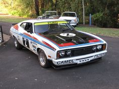 Replica of Australian Falcon XC Hardtop. Driven by Canadian Allan Moffat. Car Ford, Ford Gt, Ford Mustang, Australian Muscle Cars, Aussie Muscle Cars, Ford Falcon, Rat Rods, Ford Motorsport, The Great Race