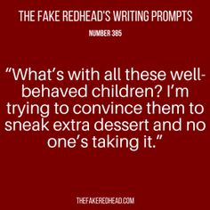 TFR's Writing Prompt 385