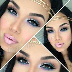Dope makeup..... Pink Lipstick