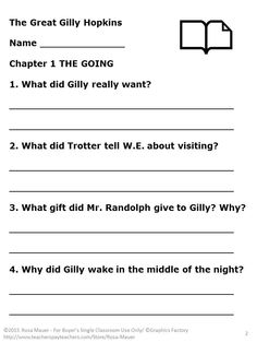 the great gilly hopkins lesson plans free