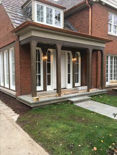 Blue Quartz Inlay with Bluestone Coping Landscape Materials, Landscape Design, Bluestone Pavers, Step Treads, Sandstone Wall, Natural Stone Veneer, Landscape Maintenance, Outdoor Areas, Porch