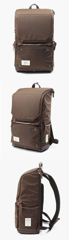 Noart Sweed Modify Brown Backpack - laptop pocket, organising pockets, padded shoulder straps & Back support. Stylish look! #backpack #rucksack