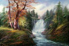 Panorama clásico aceite digital de diy pintura pintura de paisaje