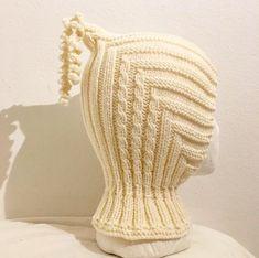 Pixielue med hals. Baby Knitting, Crochet Baby, Knit Crochet, Knitwear, Beanie, Pattern, Plushies, Tejidos, Threading