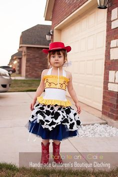This is a Toy Story inspired Jessie costume. The layered tulle skirt has a  cow 598c226ae4f