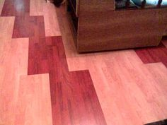 laminated floor in two colors