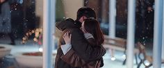 crash landing on you Jung Hyun, Kim Jung, Romantic Kiss Gif, Korean Drama Songs, Goblin Korean Drama, Hug Gif, Drama Gif, Kissing In The Rain, Pelo Bob