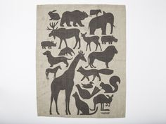 love this tea towel with random animals on it!  from etsy seller Enormous Champion