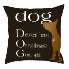 Personalized pillow - have your dog's name on the collar $139.00
