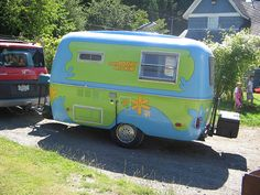 Wonder if DH would let me paint our future camper like this?