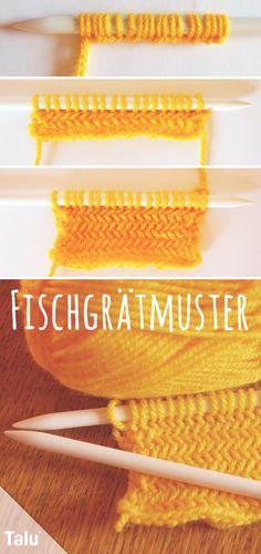 Knitting herringbone pattern - monochrome and bicolor - Großmutter tasche - Stricken How To Start Knitting, Easy Knitting, Knitting For Beginners, Knitting Yarn, Beginner Crochet, Crochet Double, Crochet Baby, Knit Crochet, Baby Knitting Patterns