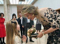 "On November 17, 2016, Queen Mathilde of Belgium visited the exhibition ""Ukiyo-e. The Most Beautiful Japanese Prints"" at the Cinquantenaire Museum in Brussels. The exhibition is held on the occasion of the celebrate of the 150th anniversary of diplomatic relations between Belgium and Japan."