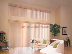 vertical treatment for largebwindows | Vertical blinds for large windows
