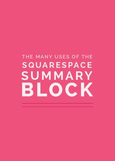// Why is everyone trying to get me to move to Squarespace? //