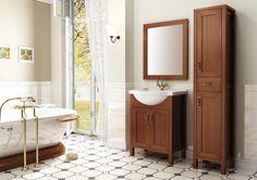 Santos 75 2D olcha/alder, umywalka ceramiczna/ceramic washbasin Rio. #elita #meble #lazienka #santos #bathroom #furniture #alder