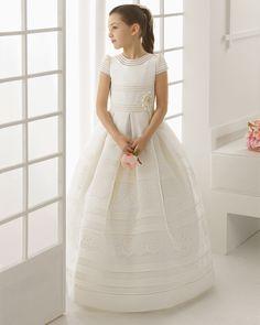 99122   vestido de comunión corte evasé