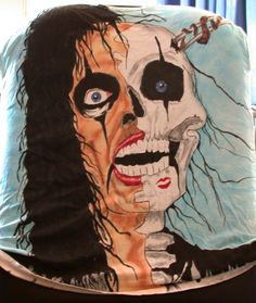Alice Cooper T-shirt by raVen-MacKay on DeviantArt Alice Cooper, Airbrush, Raven, My Arts, Deviantart, Superhero, Blog, T Shirt, Fictional Characters