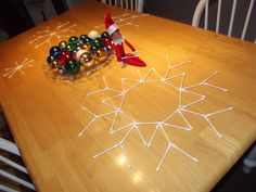 Happy, our Elf On The Shelf, got a little bit creative with the Q-tips last night. #ElfOnTheShelf