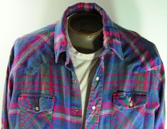 wrangler pearl snap shirt mens large cowboy by moivintage on Etsy, $19.99