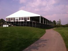 Job: Sept 2013 PGA Presidents Cup Golf Tournament out at Muirfield Village.  The exterior of the Memorial Club