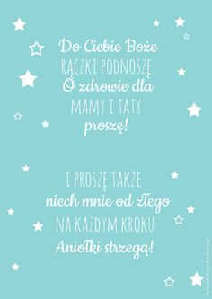 Plakat z modlitwą Do Ciebie Boże Garden Projects, Home Projects, Activities For Kids, Crafts For Kids, Room Tour, Baby Time, Quotes For Kids, Kids And Parenting, Christening