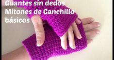 Fingerless gloves or mittens crochet step Fingerless Gloves Knitted, Crochet Gloves, Knit Mittens, Crochet Hooks, Form Crochet, Crochet Baby, Knit Crochet, Step By Step Crochet, Crochet Videos