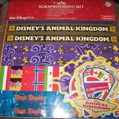 Disney Scrapbooking Sticker Kit 12 x 12 - Four Theme Park Icons