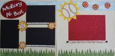 PERSONALIZED with your child's name at bat!!! premade scrapbook layout/kit/pages