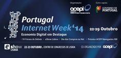 .: ACEPI :. - Portugal Internet Week'14 A Portugal Internet Week '14 terá lugar de 22 a 29 de Outubro de 2014, prosseguindo com o seu objetivo de promover, educar, analisar, orientar e potenciar a Economia Digital em Portugal.  fonte: acepi  #portugalinternetweek #eventos #economiadigital #modernistablog