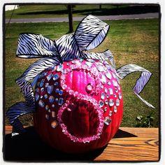 Diy hot pink/zebra initial fall pumpkin Pink Halloween, Halloween Ideas, Monster Mash, Pink Zebra, Fall Pumpkins, Holiday Decorations, Showers, Hot Pink, Initials