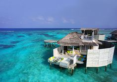 Feel the soft sea breeze on your skin as you relax in our Maldives private villas. Enjoy direct beach access from this hideaway retreat in Laamu, Maldives. Most Beautiful Beaches, Beautiful Places, Amazing Places, Amazing Things, Wonderful Places, Beautiful Homes, Vietnam, Water Villa, Maldives Resort