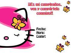 Invitaciones para fiesta Hello Kitty « Angel o Demonio