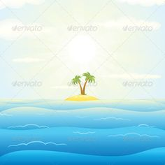 Seascape withTropical Island. Vector Illustration  #GraphicRiver         Seascape with Tropical Island. Vector Cartoon Illustration  	 - vector illustration with simple gradients  	 - vector graphics with CMYK colors for print  	 - zip file contains images: AI, CDR, EPS, JPG  	 Keywords: coast, coconut, leaf, nature, nobody, outdoor, pacific, paradise, relax, resort, summer, retro, postcard, sunlight, shore, fun, journey, adventure     Created: 19October13 GraphicsFilesIncluded: JPGImage…