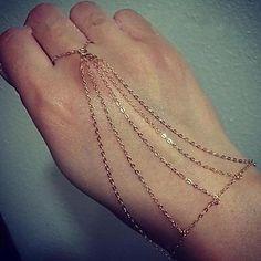 moda braccialetto mano anello della catena delle donne - EUR € 4.79