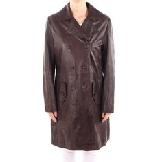 MARC O'POLO Ledermantel Gr. DE 40 Braun Damen Jacke / Mantel Leather Coat | eBay