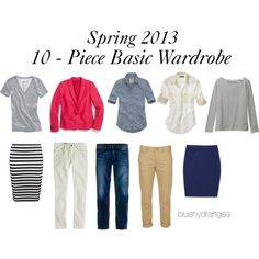 Basics for Spring by bluehydrangea on Polyvore - she also has outfit ideas in her sets