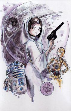 Princess Leia by Mike Maihack
