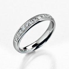 Half eternity wedding band diamond wedding band by KorusDesign