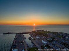 Sunset over Burghead Harbour 🔥  Burghead Visitor Centre Burghead Beach Caravan Park Burghead (The Broch) Burghead, Moray #drone  #video #dji #inspire2 #uav #usingdrones