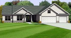 Elevation of Traditional   House Plan 70165