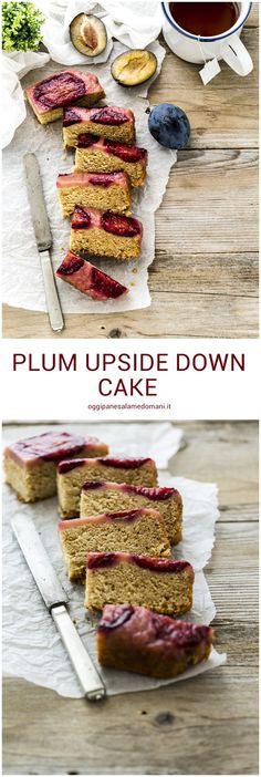 plum upside down cake - torta capovolta alle prugne - torta di prugne