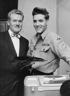 Elvis and his dad Vernon