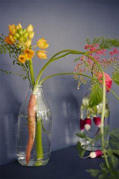 Vegetable flower arranging