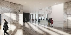 """KAAN Architecten's Winning Design for an Amsterdam Courthouse """"Exudes Openness"""",Courtesy of Beauty & The Bit; KAAN Architecten"""
