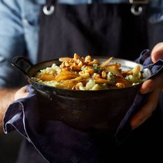 Pastinaakstamppot met peer, witlof en blauwe kaas