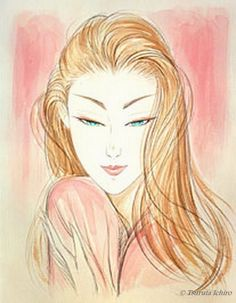 Ichiro Tsuruta Ichiro Tsuruta was born in Amakusa, Kumamoto prefect. Kumamoto, Chinese Painting, Chinese Art, Pin Up, Japanese Artists, Japanese Beauty, Female Art, Vector Art, Oriental