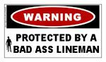 TNT: Protected by a Bad Ass Lineman Sticker. Only .75 cents.