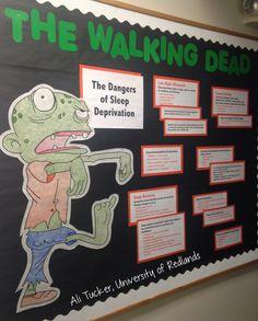 Bulletin board! The Walking Dead, The Dangers of Sleep Deprivation