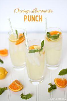 Orange Lemonade Punch Recipe by A Blissful Nest